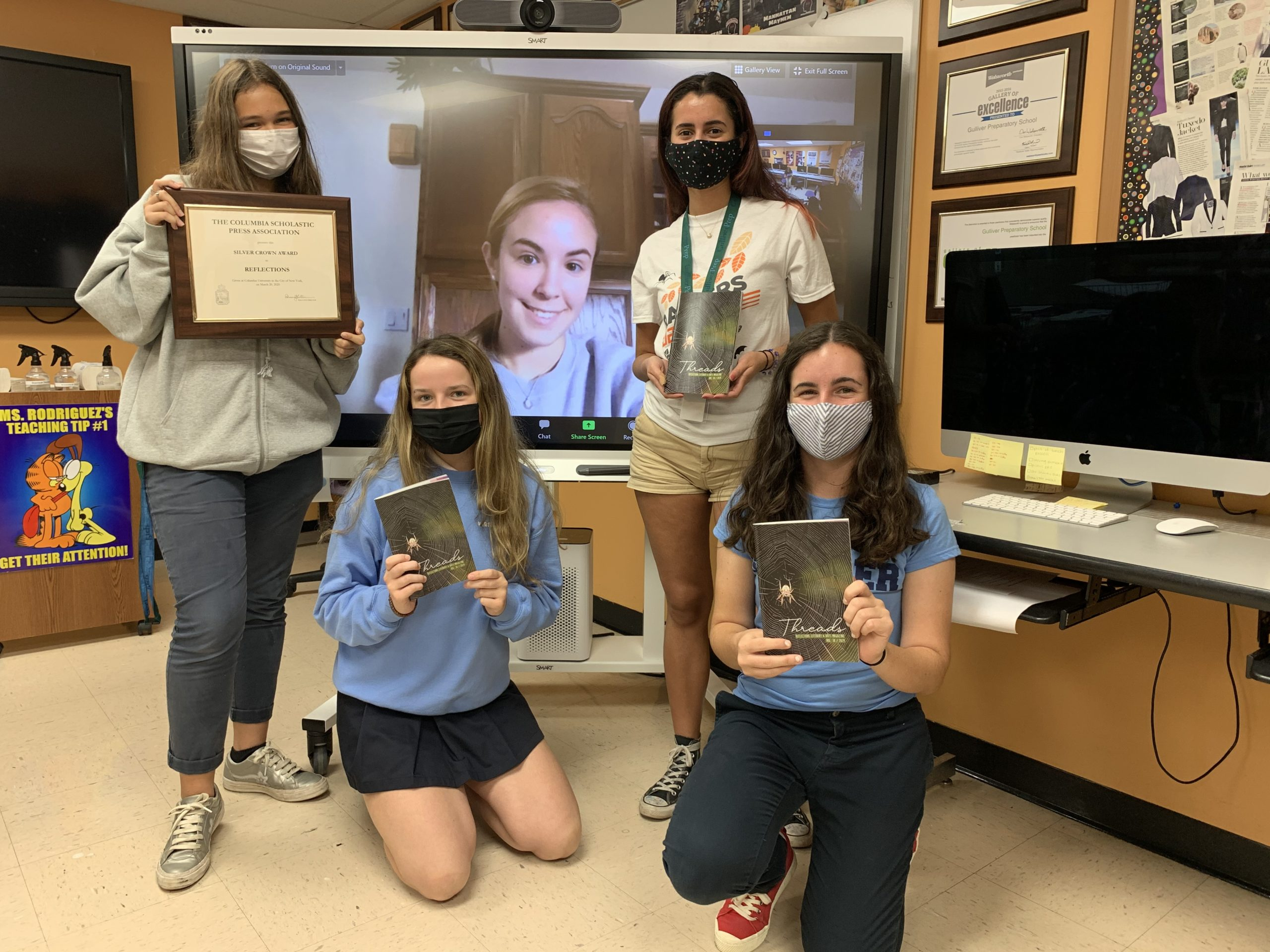 The2019edition of the Upper School's ReflectionsLiterary Magazinehas earned a CSPA Silver Crown Award.