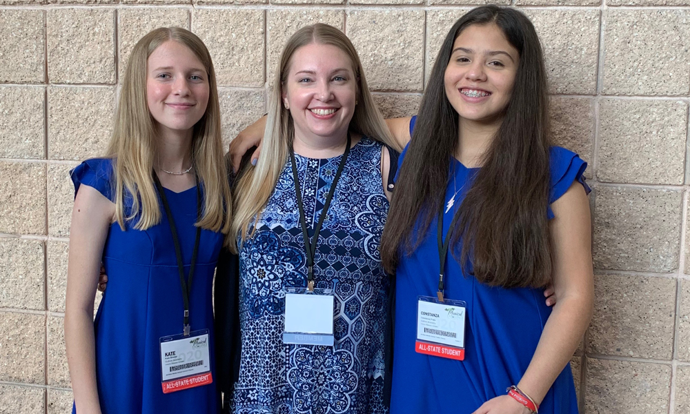 Students at Florida Music Educators Association's All-State Music Festival