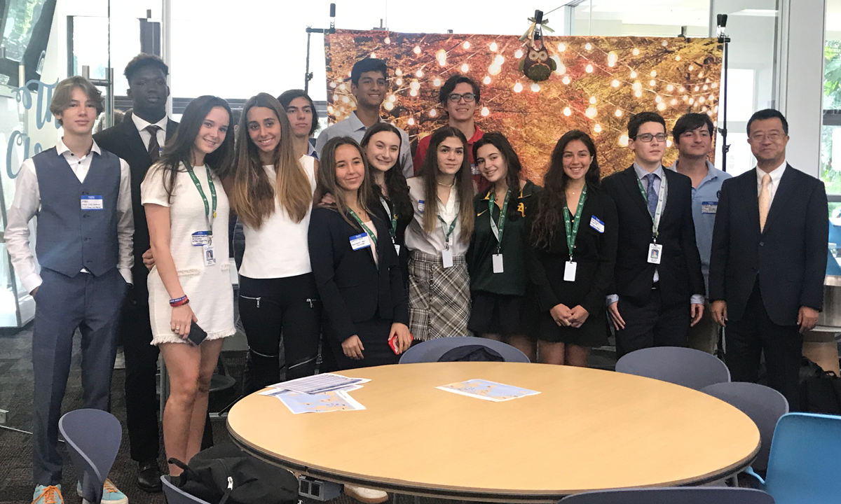 Students at the US-Japan Diplomacy project