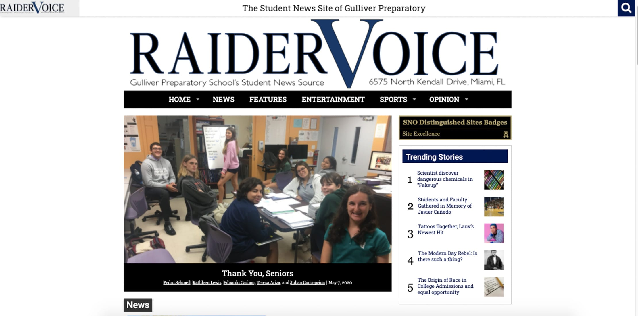 Raider Voice publication
