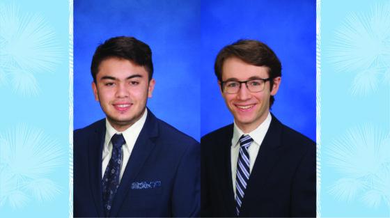 Joao Carvello '21 and Jordan Schmidt '21- 2021 National Merit Scholarship winners