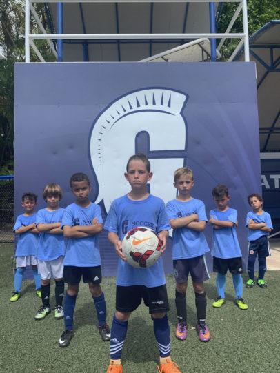 Kids at Gulliver Soccer Camp