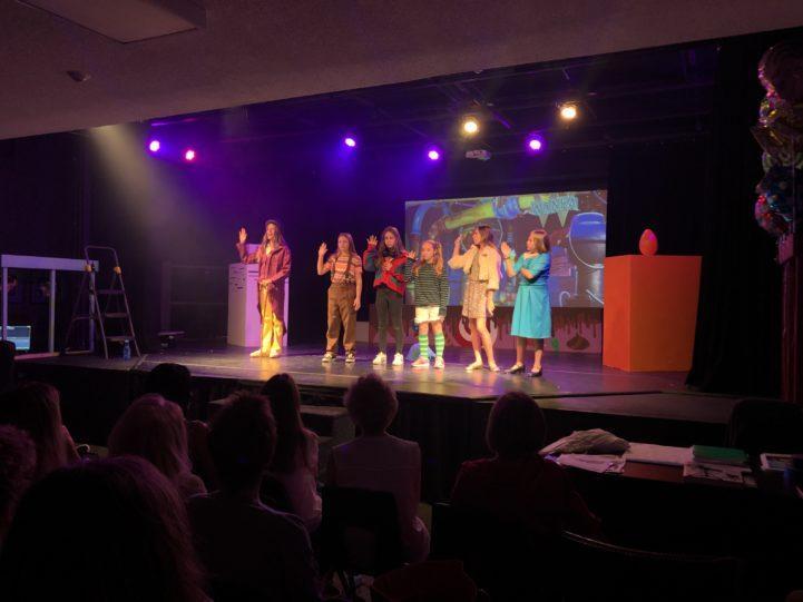 Students performing at summer Broadway camp