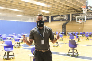 Jackson Leonard '09 in Gulliver Prep gym