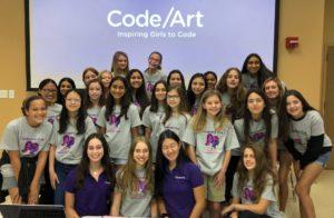 Code/Art Club Group Photo - Pinecrest