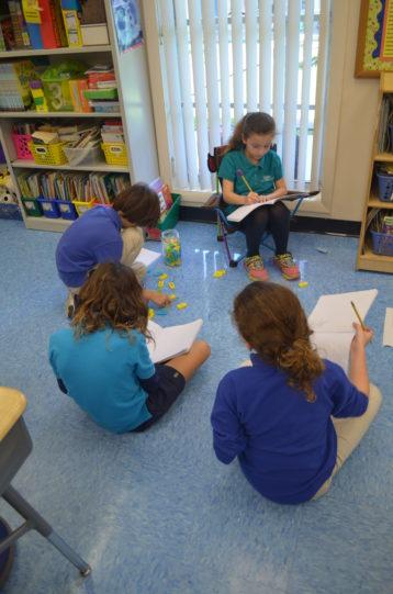 Students complete in class activities.