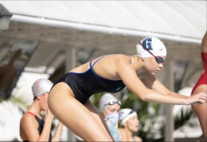 Varsity swim team captain Chloe Hernandez '21, currently serves as SALC President