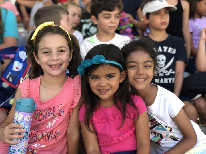 Three female children at Camp Gulliver.