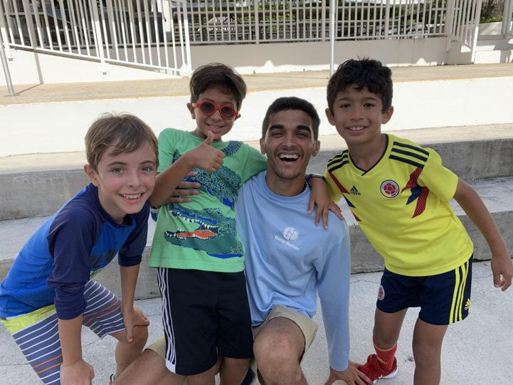 Children smiling at camp