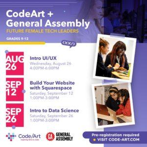 Code/Art free high school online workshops at code-art.com