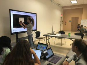 Lilly Enekes '21 Teaching Code/Art Miami