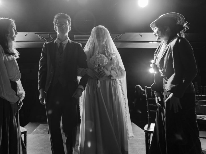 Theatre students performing