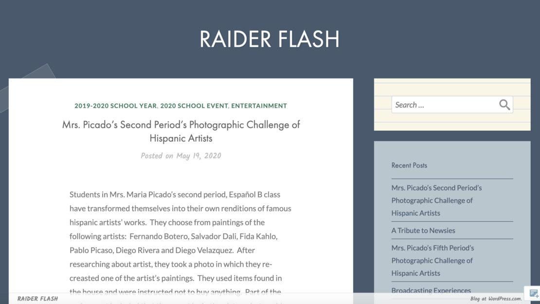 The Raider Flash - Gulliver Prep Middle School