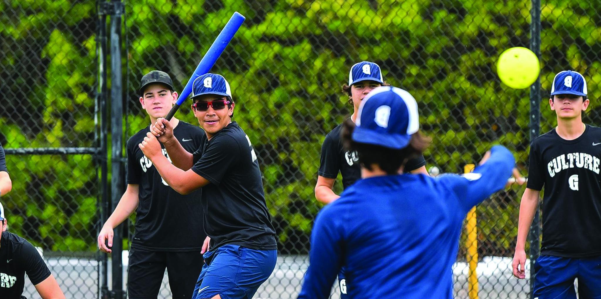 Boys baseball practice