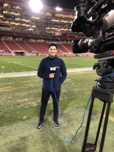 Carlos Yustis '05 anchoring at soccer