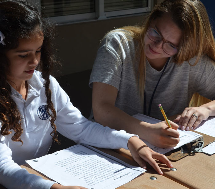 Gulliver middle school student learning.