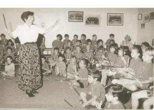 Mrs. Krutulis teaching a class
