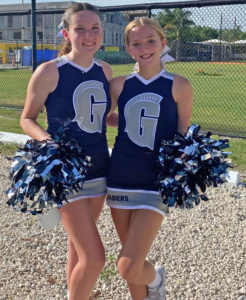 Middle School Cheer Captains, Alise Kling '26 and Tess Templeton-Werner '26