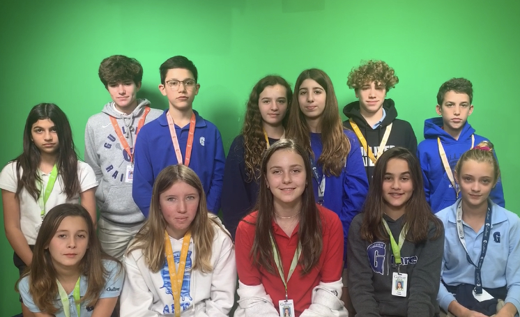The 2019-20 Middle School Yearbook Staff