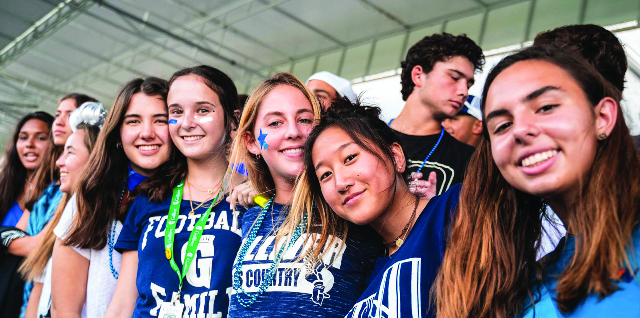Group of students at football game