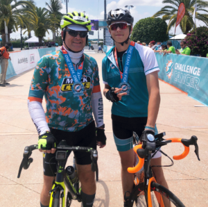 Mike Sylver (left) participated in the Dolphins Cancer Challenge.
